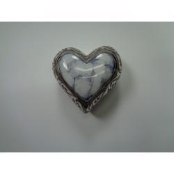 Urne souvenir en forme de cœur blanc