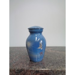 urne souvenir image imprimée- colombe et mains