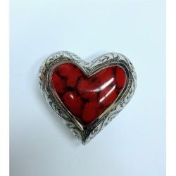 Urne souvenir en forme de coeur rouge