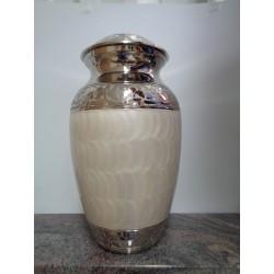 Urne blanche marbre avec nickel