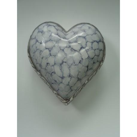 Urne en forme de cœur blanc
