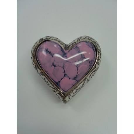 Urne souvenir en forme de cœur rose