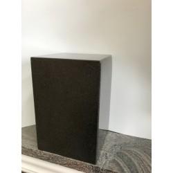 Urne en granit carré - Noir absolu