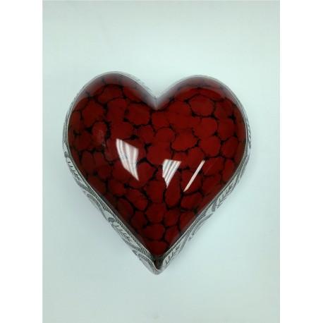Urne en forme de coeur rouge