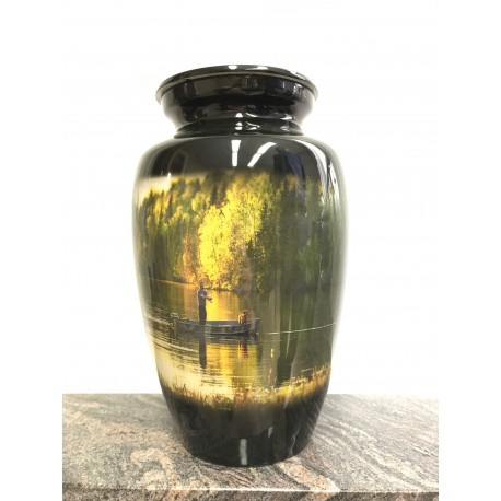 Urne avec image imprimée - Pêcheur