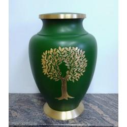 Urne en laiton avec arbre de la vie