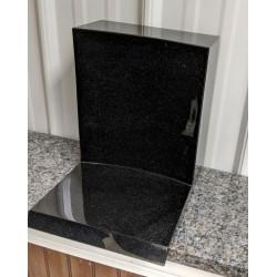 Base-support en granit noir absolu, tout poli