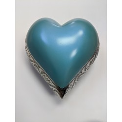 Urne forme de coeur Bleu Caraïbes