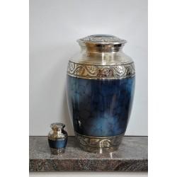 Urne couleur bleu marble et urne souvenir
